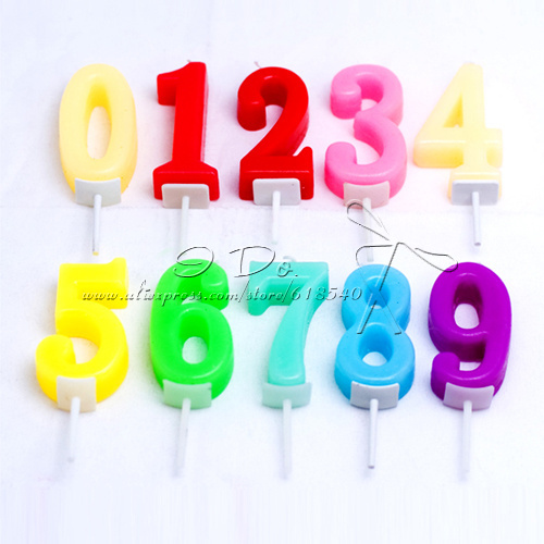 Free Shipping Number Wax Candle/Wedding Decoration/Party
