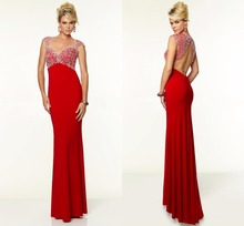 Charming Sweetheart Neck Floor-Length Hand-Beaded Hollow Backless Zipper Long Prom Dresses Formal Evening Party Gown
