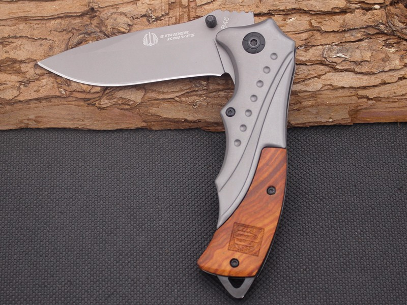 Buy Folding Knife STRIDER Survival Knifes 440C Steel Blade Steel Handle Pocket Hunting Tactical Knives Camping Outdoor EDC Tools Y61 cheap