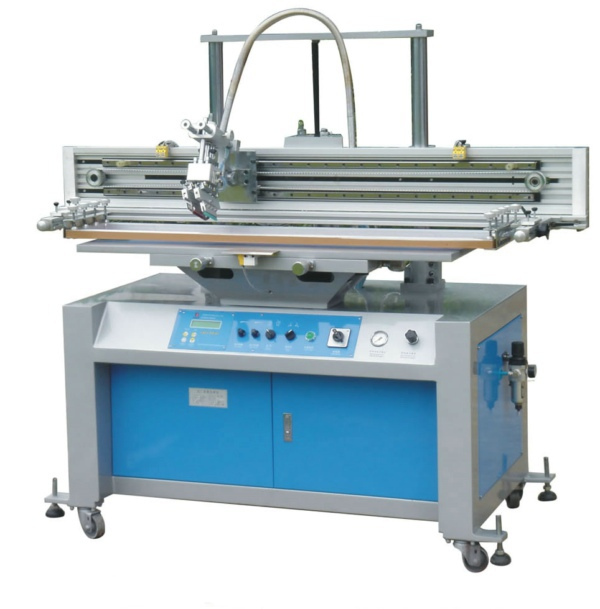 Cama plana máquina de impresión serigráfica con mesa de vacío(China (Mainland))
