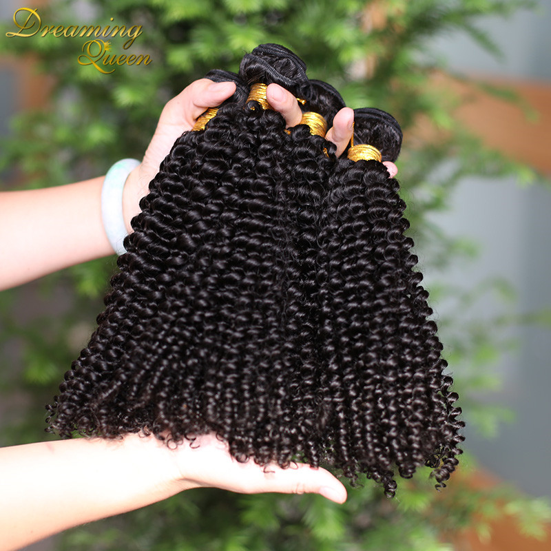 Гаджет  The Best Brazilian Human Hair Extensions Queen Virgin Product Kinky Curly Clips in Weaves 3 pcs 8 -30 inches natural black weft None Волосы и аксессуары