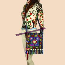 Free shipping 2 pc set of Vintage Hmong Tribal Ethnic Thai Indian Boho shoulder messenger bag