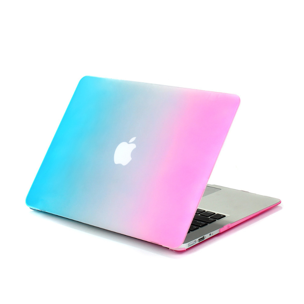 rainbow shell for apple laptop case for macbook air 11 pro 13 retina 12 15 sleeve notbook hard. Black Bedroom Furniture Sets. Home Design Ideas