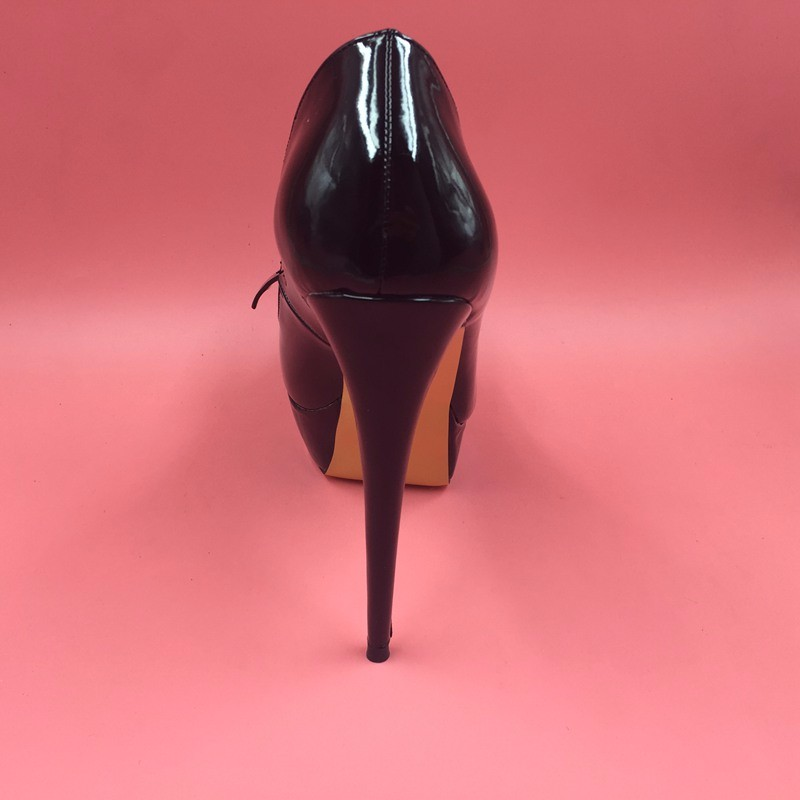 Black Bowknot Ladies Pumps High Heels Shiny Real Photo Women Pump Designer Shoes Women Luxury 2016 Ladies Shoes Custom Color