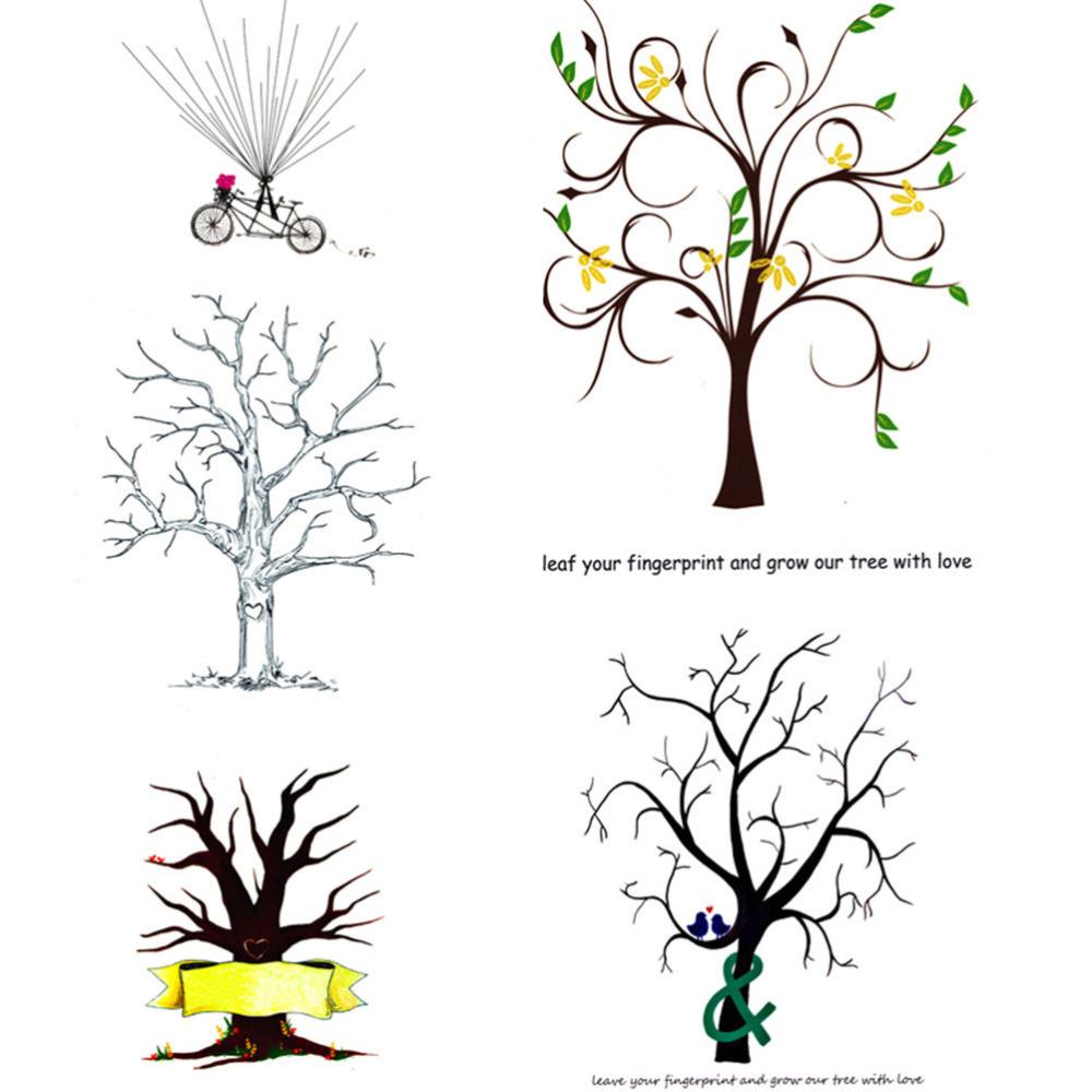 Unique Signature Guestbook Alternative Wedding Guest Book Tree Personalize Fingerprint Wedding Tree Vintage Wedding Decorations(China (Mainland))