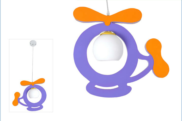 Фотография Free Shipping Child Light Purple helicopter pendant lamp