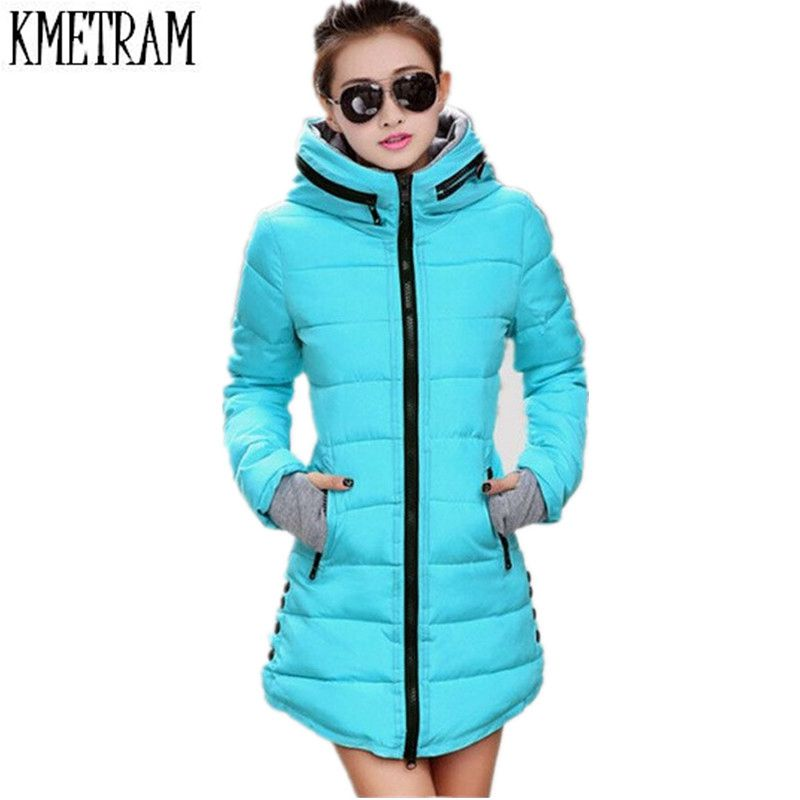 Women's Winter Jacket 2016 New Medium-long Down Cotton Female Parkas Plus Size Winter Coat Women Slim Ladies Jackets And Coats(China (Mainland))