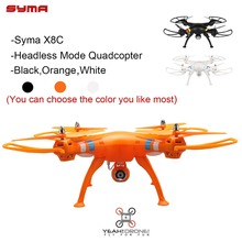 2 Batteries Original Syma Quadcopter X8C Venture Headless Mode RC Helicopter Drone with Camera 6-axis Aerial RTF UAV YEAHDRONE
