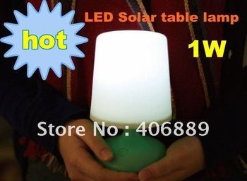 HOT 1W Solar potted light LED Solar table lamp Great for house decorative and best fidts for girls Free shipping