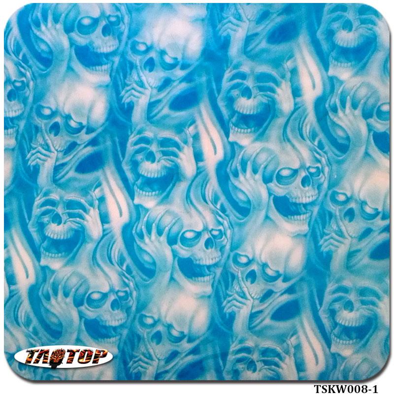 TAOTOP TSKW008-1 0.5m*2m pva agua film pattern liquid print film skull(China (Mainland))