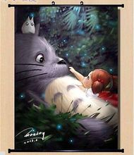 My Neighbor Totoro Home Decor Poster Wall Scroll Cosplay Anime Art 250