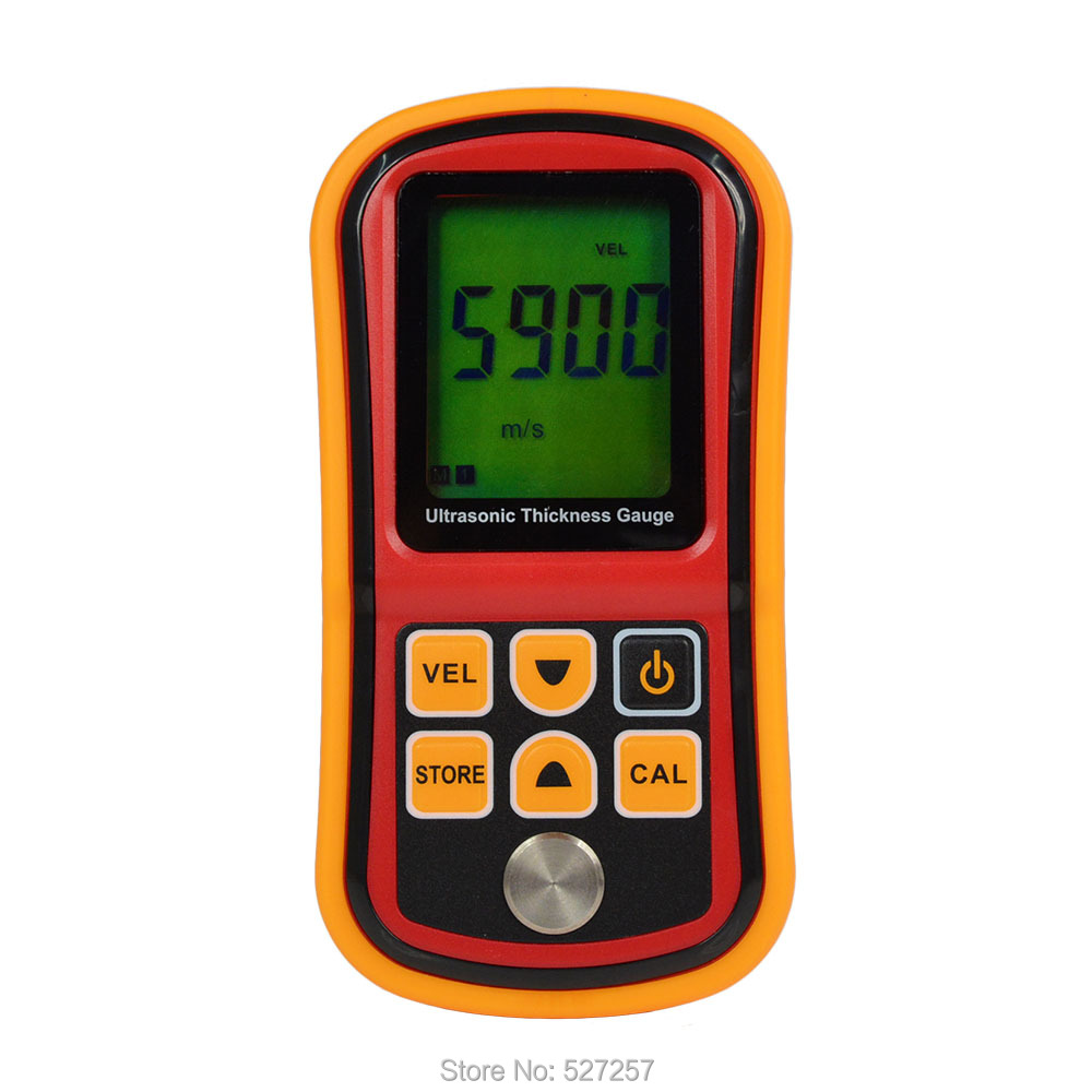 Фотография GM100 LCD Digital Ultrasonic Thickness Gauge Tester Depth Gauge + Sound Velocity Meter Range 1.2~225mm