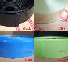 Wide 155MM / Diameter 98MM PVC 2:1 Heat Shrink Tubing Battery Wrap Black/Red/Yellow/Green/Blue/White/Clear(China (Mainland))