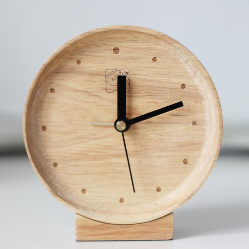 bois massif horloge paresseux silencieuse petit bois magique r veil dans r veils de maison. Black Bedroom Furniture Sets. Home Design Ideas