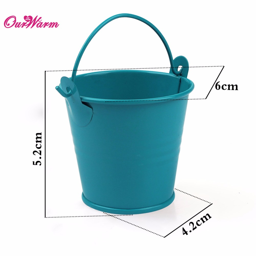 Online cheap mini metal bucket tin candy box buckets for for Small pail buckets