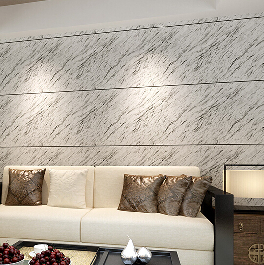 Pvc wallpaper marble design wallcovering simple modern