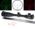 11mm 20mm Rail 6 24X50 Adjustable Green Red Dot Illuminated Hunting Tactical Riflescope Reticle Optical Sight