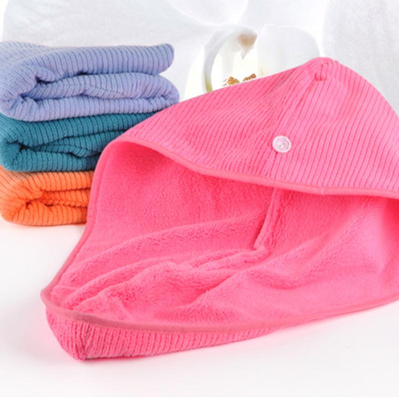MMY Brand-1 piece microfiber hair towel for lady women Magic Drying Turban Wrap Towel spa salon towels bathroom(China (Mainland))