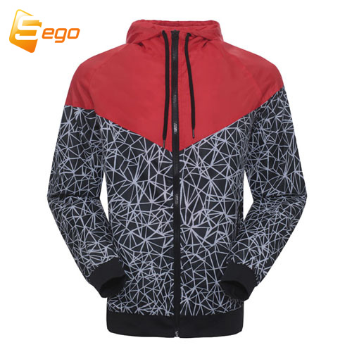 Spring And Fall new men's sports jacket hooded jacket Men Fashion Thin Windbreaker Zipper Coats Free Shipping(China (Mainland))