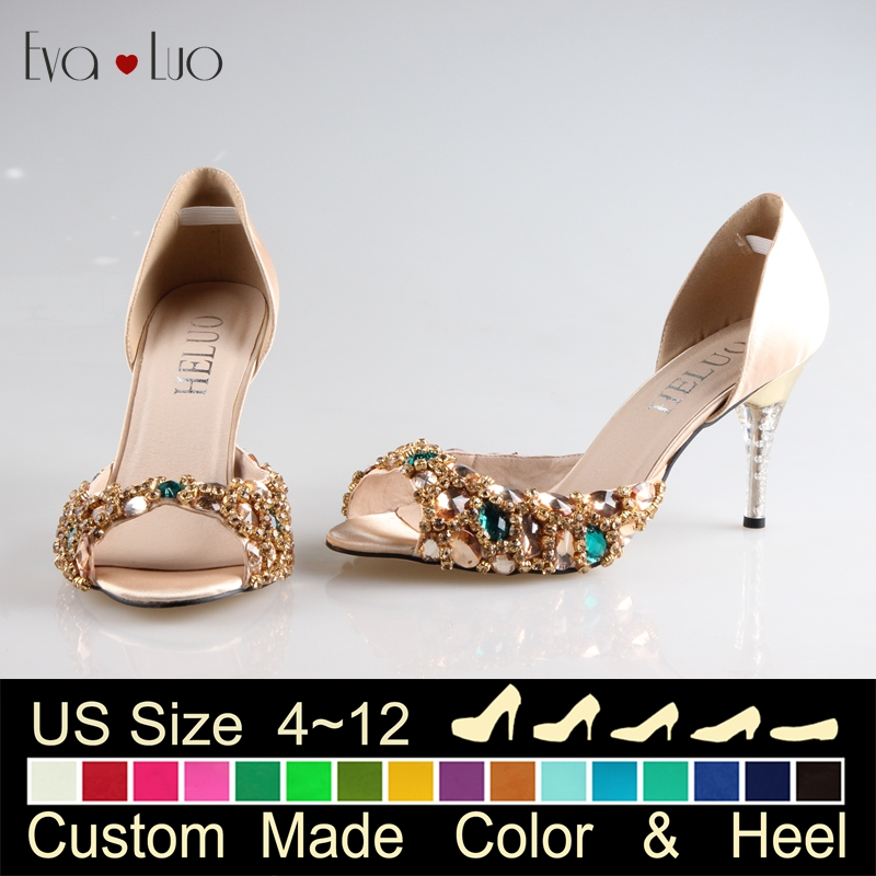 Narrow womens evening shoes