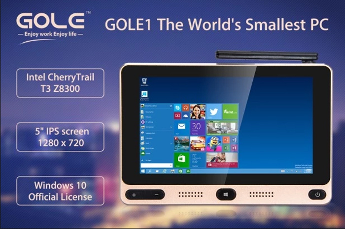 GOLE GOLE1 5 inch 720x1280 Pixels Mini PC Intel Cherry Trail Z8300 Quad-core Windows 10/Android 5.1 2.4GHz/5GHz WiFi 4K Box(China (Mainland))