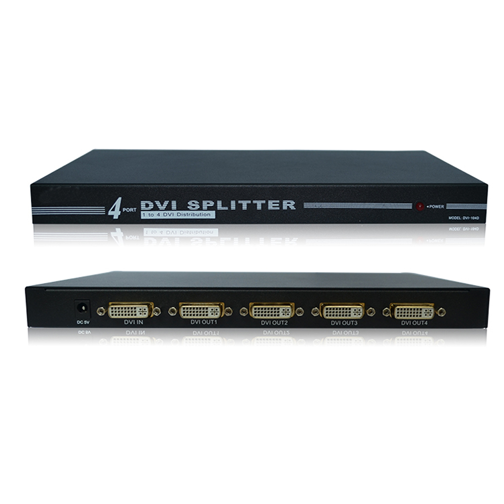 4 ports 1X4 3D 4K x 2K 1080P DVI splitter 1 in 4 output DVI distributor(China (Mainland))