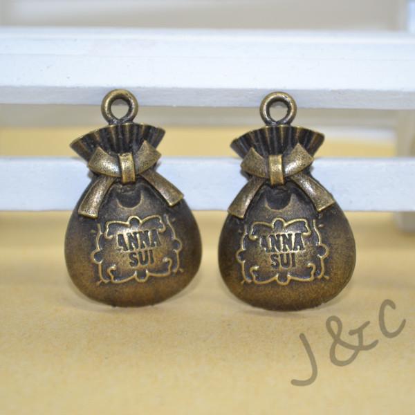 17 pcs Vintage Charms Purse Pendant Antique bronze Alloy Fit Bracelet Necklace DIY Metal Jewelry Findings#Z1401805(China (Mainland))