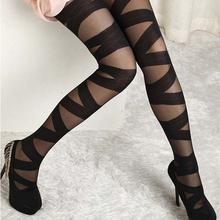 Women Sexy Pantyhose Vintage Black Ripped Stretch Leggings Stylish Pantyhose  Retail/Wholesale  61F2