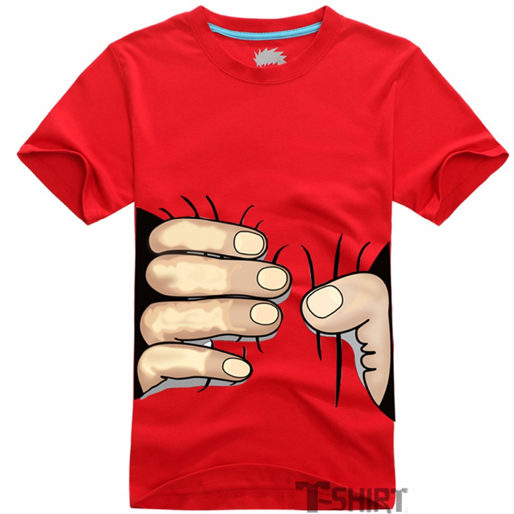2015 Men Clothes Big Hand 3d T Shirt Summer Fashion Visual Creative Personality Spoof Grab Your Cotton Top Tees Plus Size 4XL(China (Mainland))
