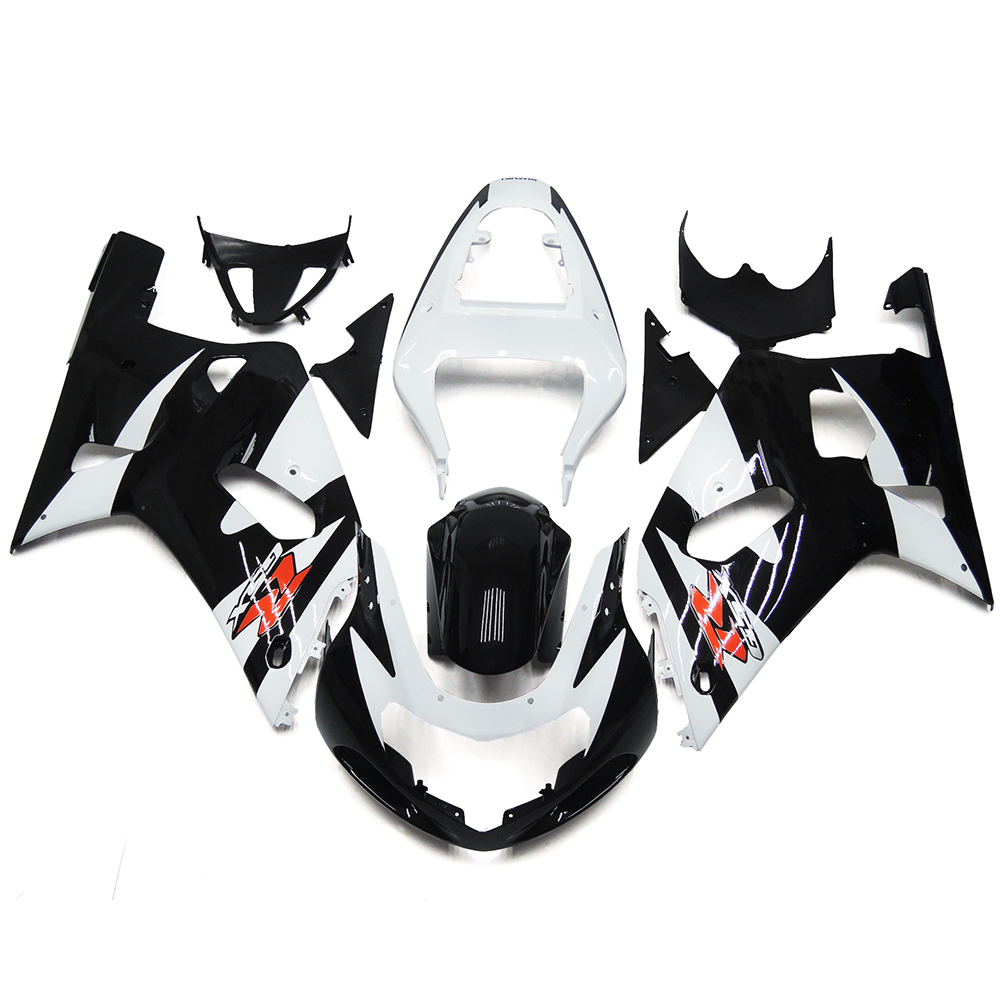 Fairings For Suzuki GSXR600 750 K1 00 01 02 03 2000 2001 2002 2003 ABS Motorcycle Fairing Kit Bodywork Cowling Black White New(China (Mainland))