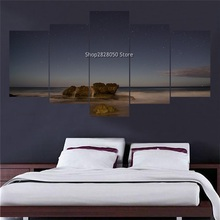 Hot 5 Piece Landscape Picture Customized Canvas Wall Art Large Print Photo Interior Paint Companies Modular Paintings For Hall(China (Mainland))