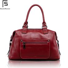 FS New Fashion Genuine Leather Women's Handbag Hobos Bags First Layer Cowhide Shoulder Messenger Bag Mat Grain Cross Body Bags