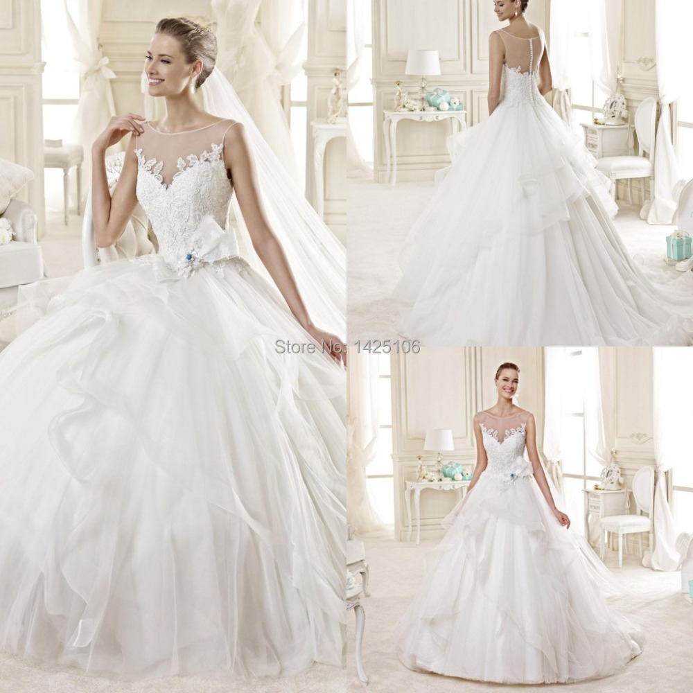 Buy brides dresses long ball gown wedding for Big tulle ball gown wedding dress