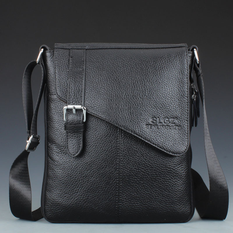 New genuine leather men shoulder bag leather messenger bag free shipping Q23(China (Mainland))