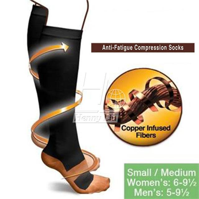 Новое чудо медь анти-усталость компрессионные носки успокоить нездоровые унисекс ...