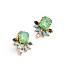 free shipping wholesale fashion Jewelry for women 2015 new design cute earrings Vintage Gem stud earrings hot sale(China (Mainland))