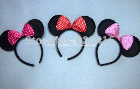 wholesale kids birthday party supplies, Photography props,minnie mouse ears headband,the accessories of children's(China (Mainland))