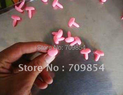 free shipping!!! 500pcs/lot 15*13MM Animal Triangular PINK  PLASTIC NOSES PLUSH BEAR Toy  findings#49