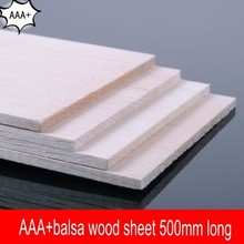 10 pieces/lot AAA+ Balsa Wood Sheet ply 500mmX100mmX1mm super quality for airplane/boat model DIY free shipping(China (Mainland))