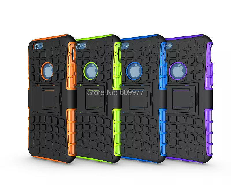 For iPhone 6 4.7 Plus 5.5 2 in 1 Rugged Hybrid Heavy Duty Robot TPU Hard Back Armour Case Kickstand Cover(China (Mainland))