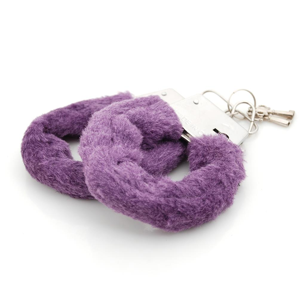 Sexy Soft Furry Steel Fuzzy Fur Wrist Handcuffs Dress Valentines love Gift fetish Adult Games Sex