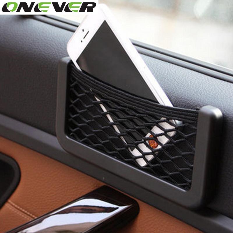 Hot Car Net Bag Car Organizer Nets 20X8cm Automotive Pockets With Adhesive Visor Car Syling Bag Storage for tools Mobile phone(China (Mainland))