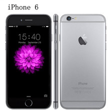 Buy 100% Original iPhone 6 Unlocked 4.7 Inch Dual Core 1.4 GHz 1GB RAM 16/64/128GB ROM 8MP Camera LTE IOS IPS Used Mobile Phone for $259.49 in AliExpress store