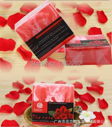 The 2015 Thailand rose handmade soap, anyone can use, beautifying and whitening soap, whitening, best perfume(China (Mainland))