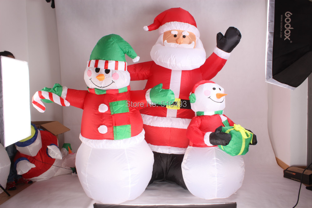 7FT christmas outdoor decoration Inflatable Santa Claus family , Modeling realisticinflatable Santa Claus(China (Mainland))