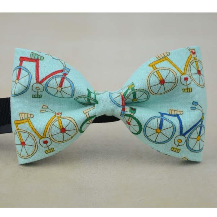 Cute bikes handmade bow tie fashion women necktie men ties wedding