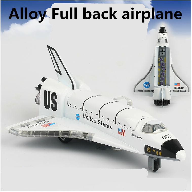 Space Shuttle models,alloy Full back Airplane model Toy Vehicles , Diecasts Airplanes toys, free shipping(China (Mainland))