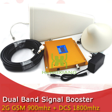 LCD Display 4G DCS 1800MHz + 2G GSM 900Mhz Dual Band Mobile Phone Signal Booster GSM 900 DCS 1800  Signal Repeater Amplifier(China (Mainland))