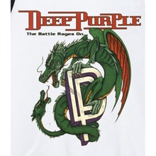 deep purple the battle rages on cyan dragon graphic printing rock band t shirt