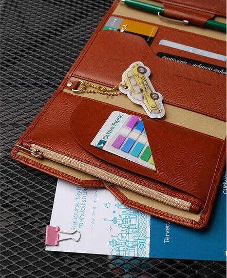 Men travel credit card wallets leather passport cover coin case purse passport holder women s card